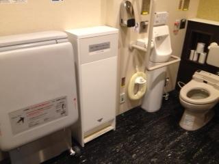 高速道路の福祉トイレ